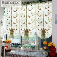 1 PCS Pastoral Tulle Window Roman Curtain Embroidered Sheer For Kitchen Living Room Bedroom Window Curtain