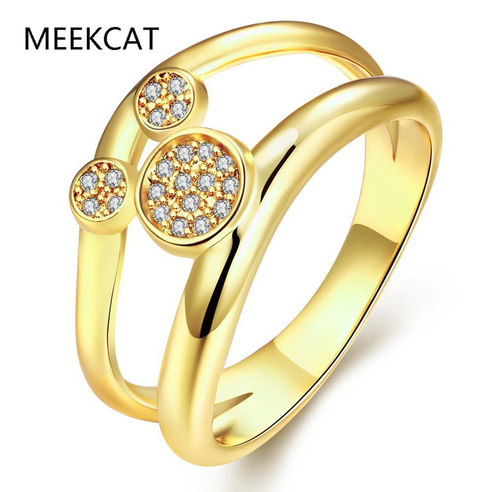 fashion gold color cubic zirconia cute mickey mouse rings cincin hadiah piercing women jewelry romantic wanita - Mickey Mouse Wedding Ring