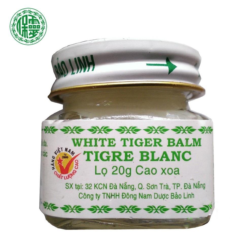 3PCS g Original BaoLin Brand Vietnam White Tiger Balm Baume Massage Nature Herb Essential Body Balm Oil For Headache Toothache 23