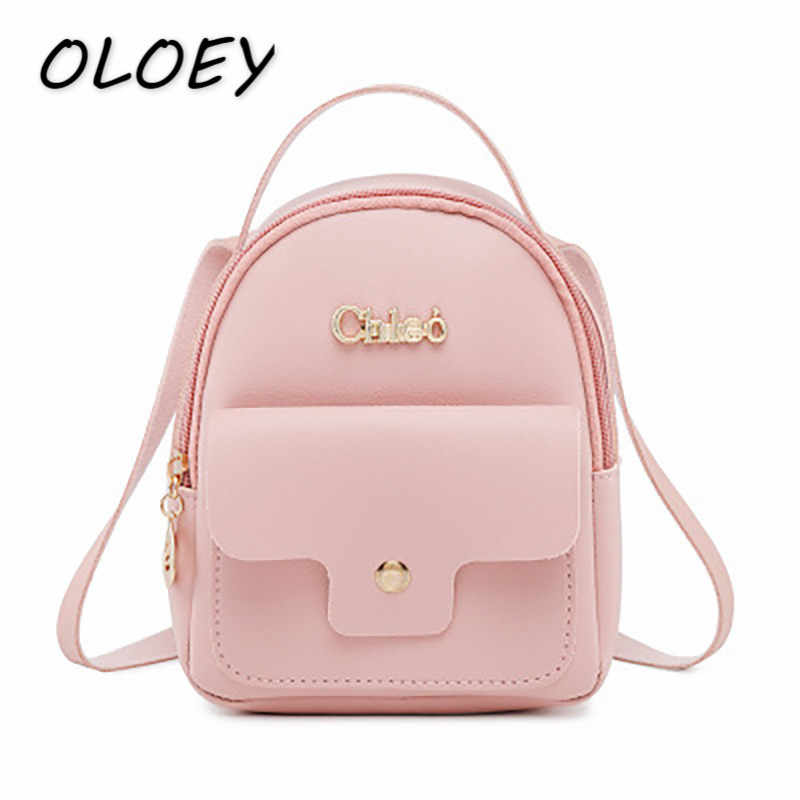 Women Mini PU Backpacks For Female Leather Solid Back Bags Casual Coin Change Packs Portable Crossbody Shoulder Bags#