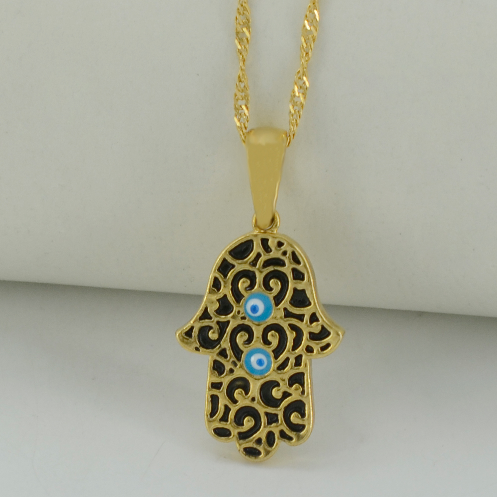 Jewelry & Watches Practical Large Hamsa Hand Necklace Pendant Sterling Silver Religious Evil Eye Fatima Cheap Sales Fashion Jewelry