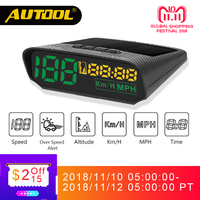 AUTOOL X100 HUD Car GPS Speedometer Head UP Display Auto Electronics Multifunction Digital Speed Altitude Meter Automotive KM/H