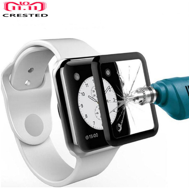 1be5b61d013 CRISTA Completa Vidro Temperado Film Para Apple iwatch Relógio 4 44mm 40mm  Protetor de Tela série