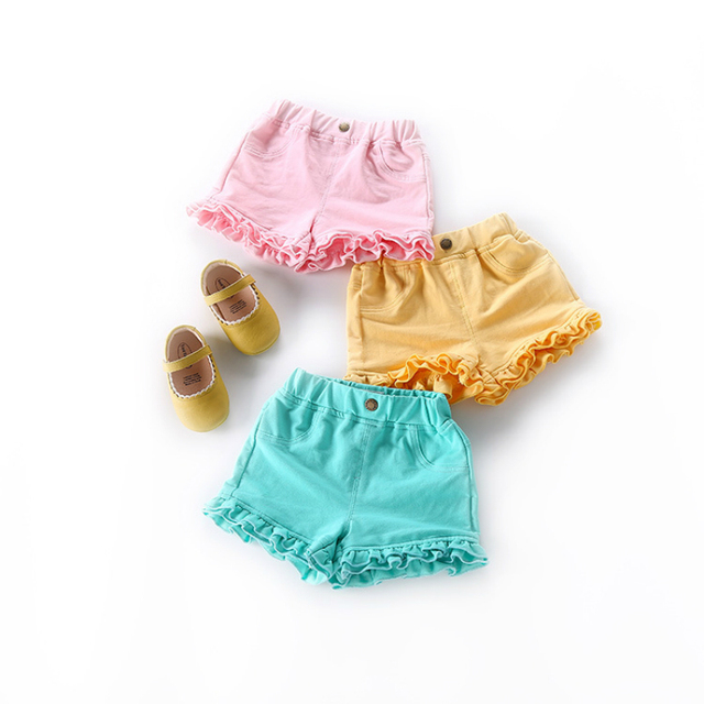 Girl's Plain Cotton Shorts
