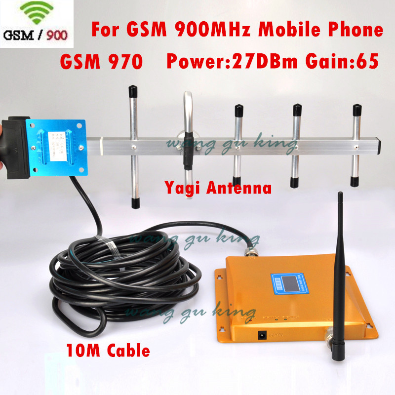 FULL SET LCD Display GSM 900Mhz Signal Repeater GSM 970 Mobile Phone Signal Booster Cell Phone Amplifier Yagi Antenna +10m CableFULL SET LCD Display GSM 900Mhz Signal Repeater GSM 970 Mobile Phone Signal Booster Cell Phone Amplifier Yagi Antenna +10m Cable