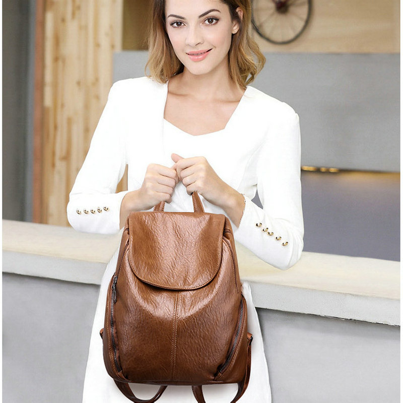 Beraghini Women Backpack Famous Brand School Bags For Teenager Girls Vintage High Quality Leather Backapcks Women Herald Fashion
