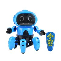 Smart Induction 6 Legged Electric RC Robot DIY Unassembled Kit Gesture Sensor Obstacle Avoidance Kids Remote Control Toys