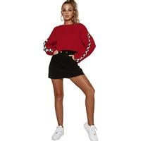 Harajuku Streetwear Sweatshirt Women Crop Top Hoodies 2018 Autumn Black Sweatshirt Winter Oversized Hoodie Red Sweat Femme
