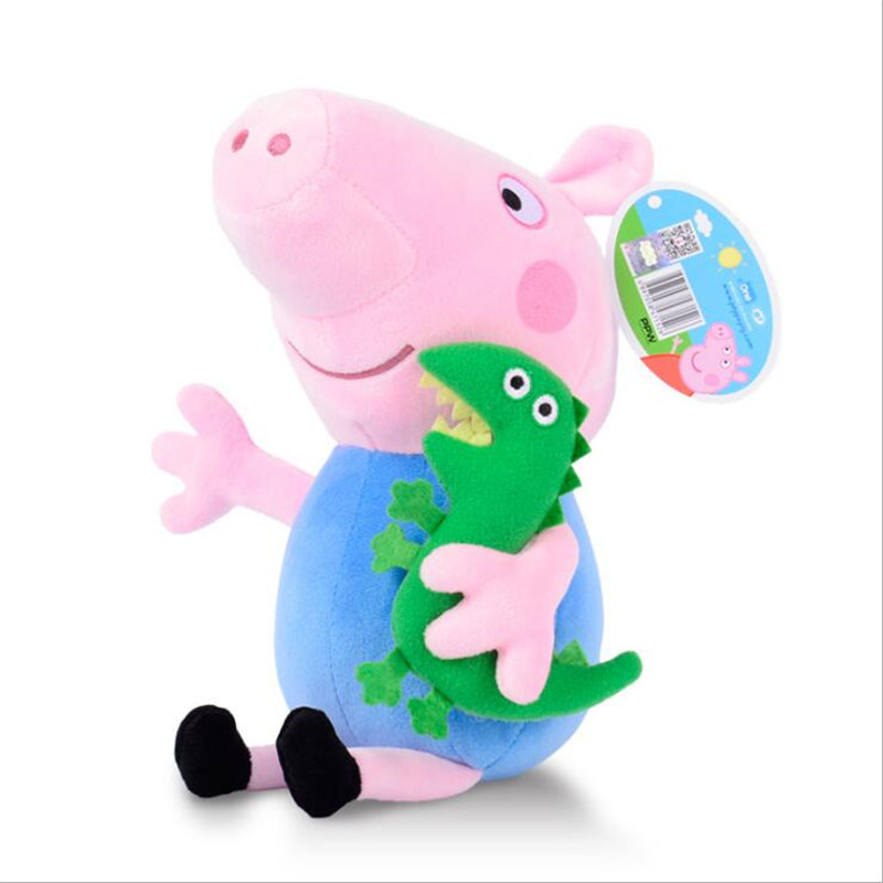 Image 4 - Peppa pig George pepa Pig Family Plush Toys 19cm Stuffed Doll Party decorations Schoolbag Ornament Keychain Toys For Children-in Movies & TV from Toys & Hobbies