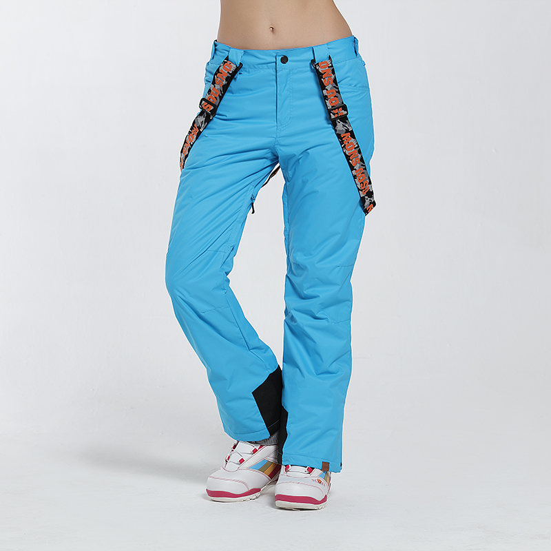 Automne et hiver femme ski pantalon coupe-vent imperméable chaud sports de plein air ski pantalon sangle snowboard femmes livraison gratuite XS-L