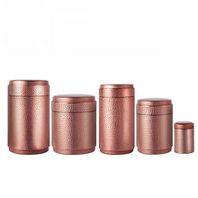 Pitting Metal Canister Tea Caddy Tin Jar Coffee Can Kitchen Storage Container Silver 100 x 100 x 170mm