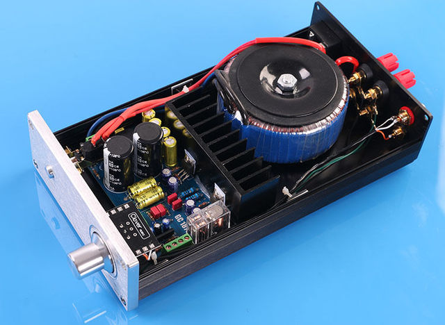 Zerozone New Finished Lm1875t Stereo Amplifier With Omron