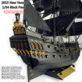 2015 New version Classical wooden sailing boat 1/34 black pearl Pirates of the Caribbean wood model kit with english manual