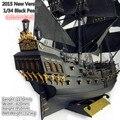 2015 nueva versión clásica barco de vela de madera 1/34 negro perla Pirates of the caribe modelo de madera kit con el manual de inglés