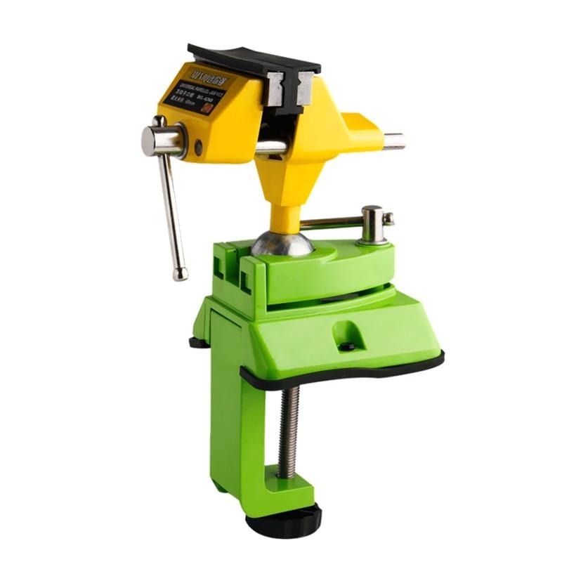 Schraubstock Universal Mini Tabelle Schraubstock Zink legierung 360 Grad Bank Clamp Arbeitstisch Feste Halterung Holzbearbeitungsmaschinen Werkzeuge