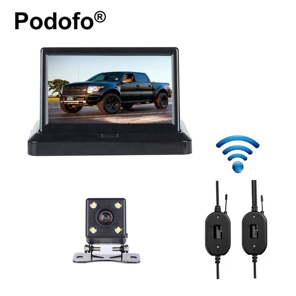 """imágenes para Wireless 5 """"plegable Pantalla de Color TFT LCD de Visión Trasera Del Monitor Con 170 HD Gran Angular de Visión Nocturna de Coches de Visión Trasera de Copia de Seguridad Automática cámara"""