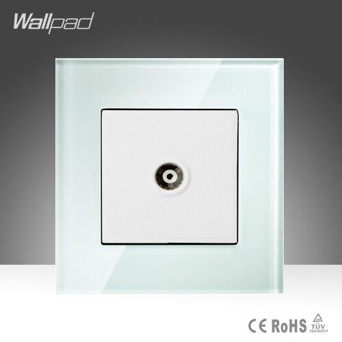 TV vía satélite Sokcet Wallpad Smart Home Hotel Cristal Blanco Cable TV Vía Saté