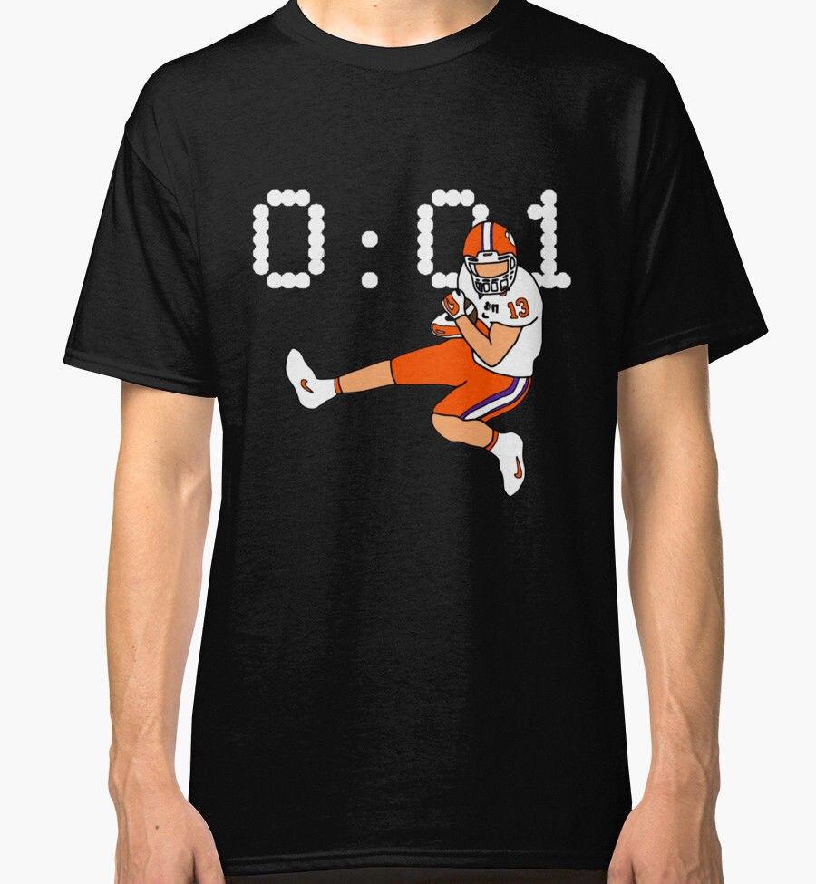 Clemson Game Winning Touchdown Mens Black T-Shirt Clothing 3D Men Hot Cheap Short Sleeve Male T Shirt Solid Color Top Tee