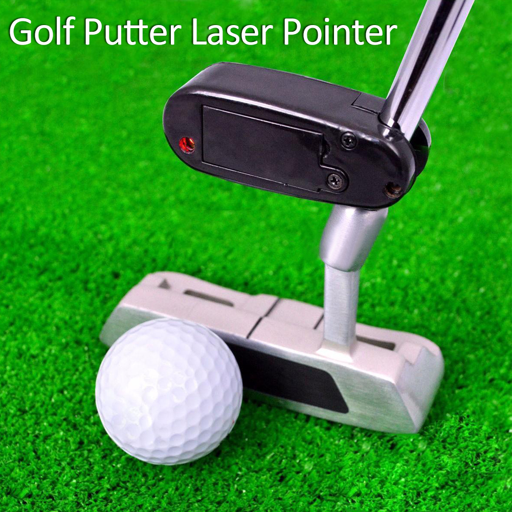 где купить Black Golf Putter Laser Pointer Putting Training Aim Line Corrector Improve Aid Tool Practice Golf Accessories дешево