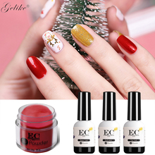 4Pcs/Set Dipping System Nail Kit Art Dip Powder With Base Activator Liquid Gel Color Natural Dry Without Lamp