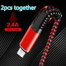 2 sztuk razem Micro USB fastCharging kabel z pleciony i 5000 + Bend żywotność do Samsung, Nexus, LG, Motorola, z systemem android kabel