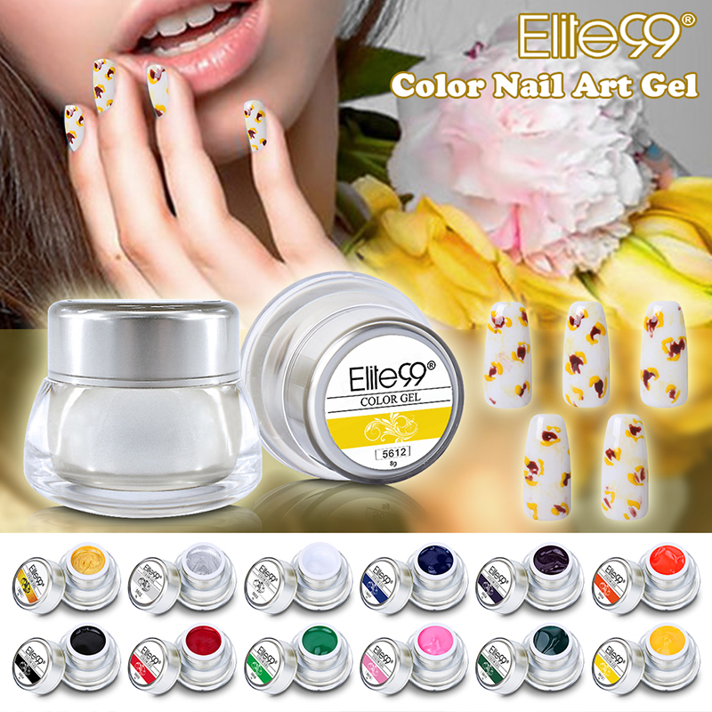 Elite99 New 3D Nail Art Paint Draw Painting Acrylic Color UV Gel ...