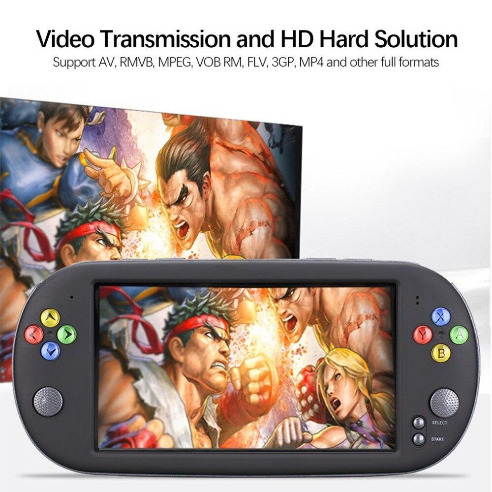 X16 8G Console de jeu Console de jeu vidéo avec Double Rocker pour GBA NES jeux Support 32 GB TF avec écran 7