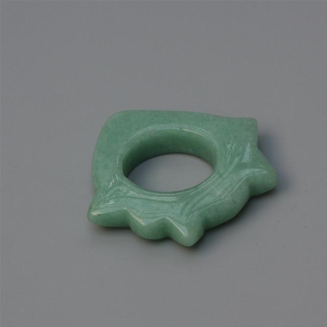 Natural Green Jade Massage Ring