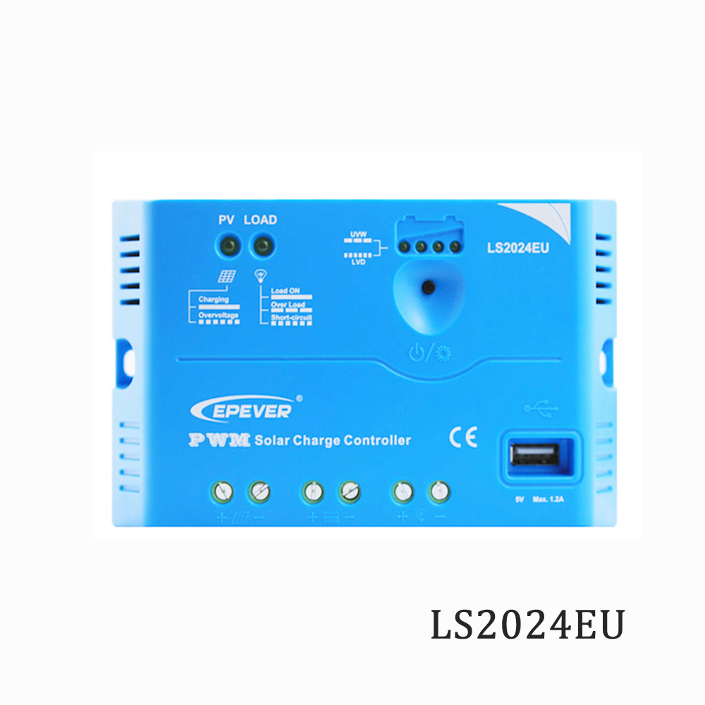 Solar Charge Controller 20A 12V 24V LS2024EU Epsolar PWM PV 100W 18V Solar Panels charger Regulators 5V USB port