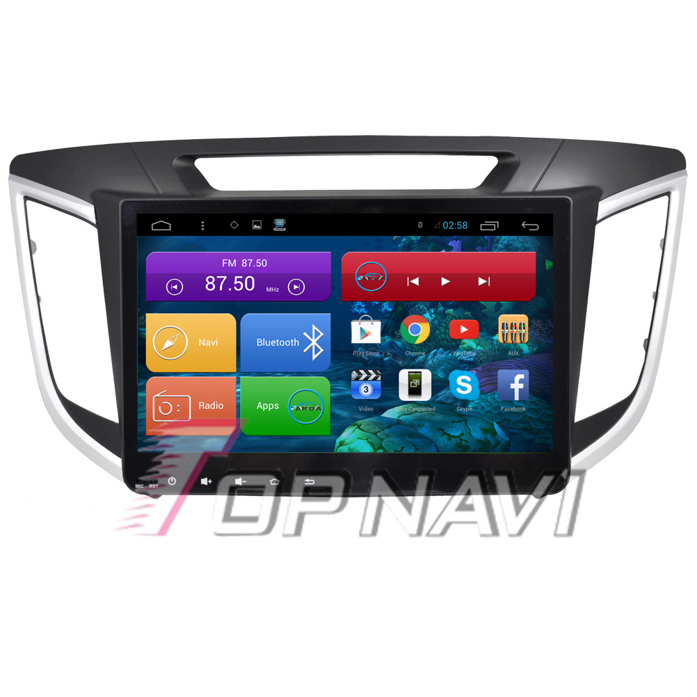 Free Shipping 10.2'' Quad Core Android 4.4 Car PC Car Radio for Hyundai IX25 With 16GB Nand Flash Video Stereo Wifi BT GPS Map