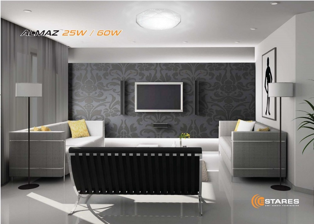 ESTARES Contrôle led led Plafond lumière ALMAZ 60 W SHINY-220V-IP44 - 4