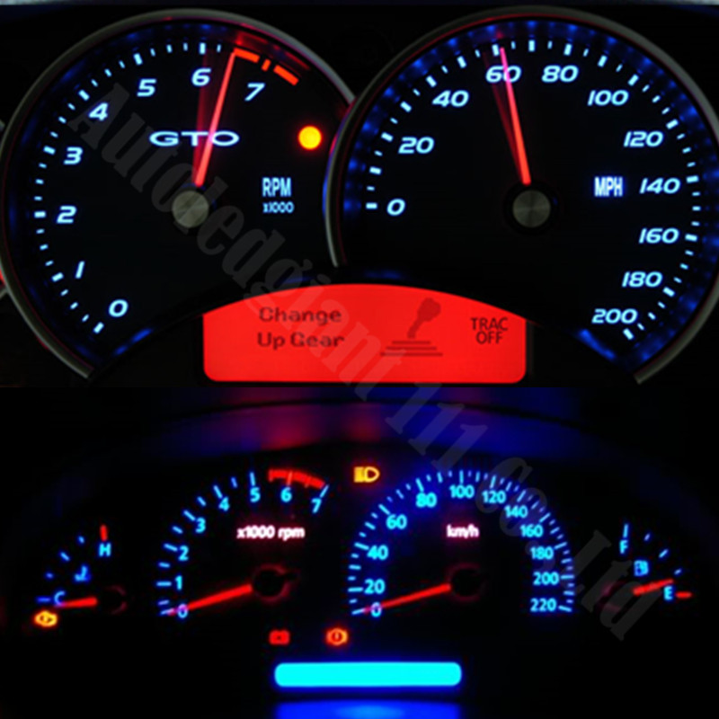 Awesome Green White Blue Red Yellow Ice Blue Dashboard Light T5 LED With Socket  Instrument Cluster Panel