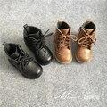 Детская обувь  обувь для мальчиков и девочек на осень и зиму  детские кожаные ботинки  модные ботинки для маленьких девочек