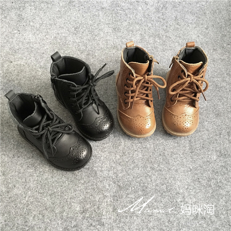 Children's Shoes Autumn And Winter Boys And Girls Shoes Baby Leather Boots In Tube Boots Fashion Little Girls Boots 2014 new autumn and winter children s shoes ankle boots leather single boots bow princess boys and girls shoes y 451