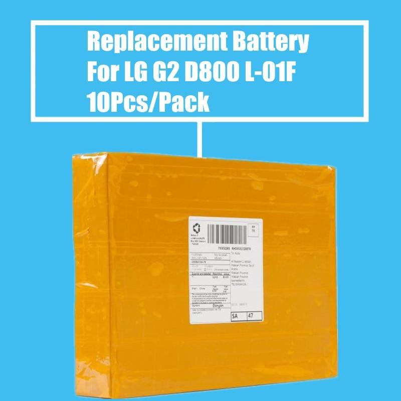 New Arrival 10Pcs/Pack 3000mah Replacement <font><b>Battery</b></font> For LG G2 D800 D801 <font><b>D802</b></font> LS980 VS9801 L-01F F260 F260K/L/S F320 P698