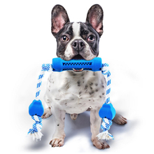 HELLOMOON Blue Dog molars twisted bar pet dog chew toys bite toy interactive for large rubber dogs pets