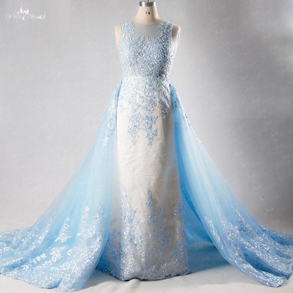 LZ222 100% Actual Photos New Design Lace Beading Wedding Dress Detachable Romatic Sexy Bridal Dresses China Online Shop