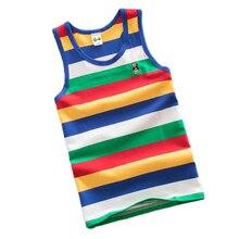 Children undershirts baby tops striped vest cotton clothes for boys  singlet kids ondershirt summer girls undershirt 3-16T