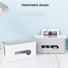 купить ABS dust-proof heat dissipation wire storage box for data line entanglement power charger computer wire winder cable organizer по цене 1200.47 рублей