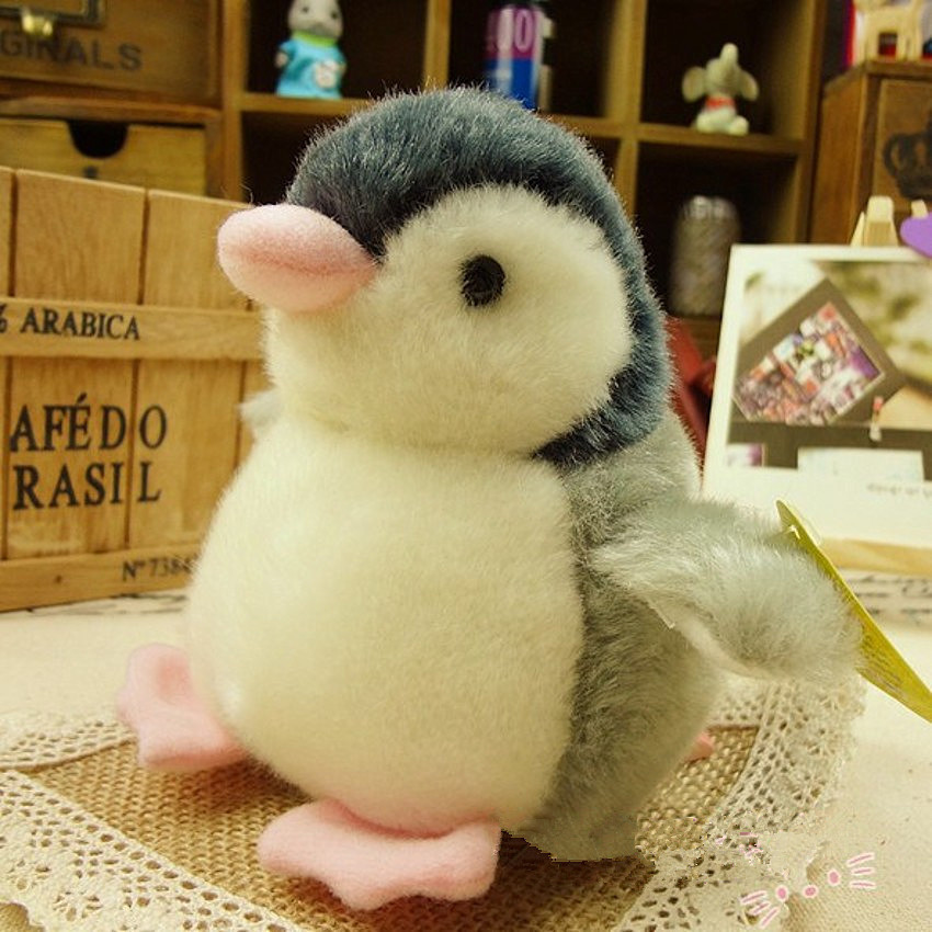 Cute Squeezing Sound Penguin Plush Singing Stuffed Animated Animal Kid Doll Toy