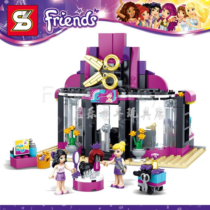 346pcs girls friends set heartlake hair salon emma natasha for Lego friends salon de coiffure
