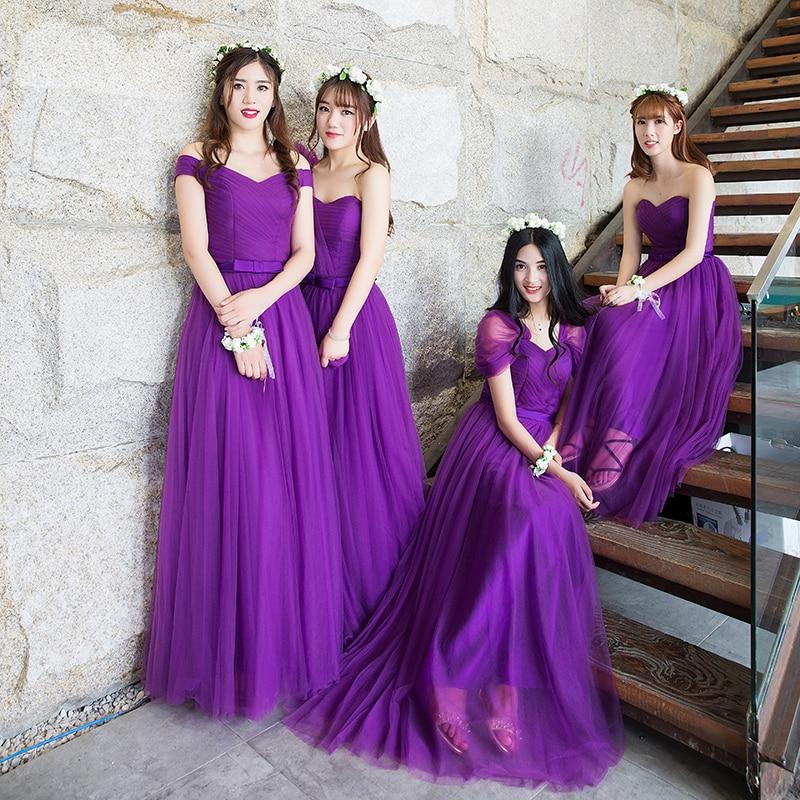 Fantástico Reales Vestidos De Dama De Color Púrpura Imágenes - Ideas ...