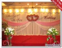 4 м 8 м Широкий свадьбы и вечеринки фон украшения занавес фоне шторы с нержавеющей стали стоять