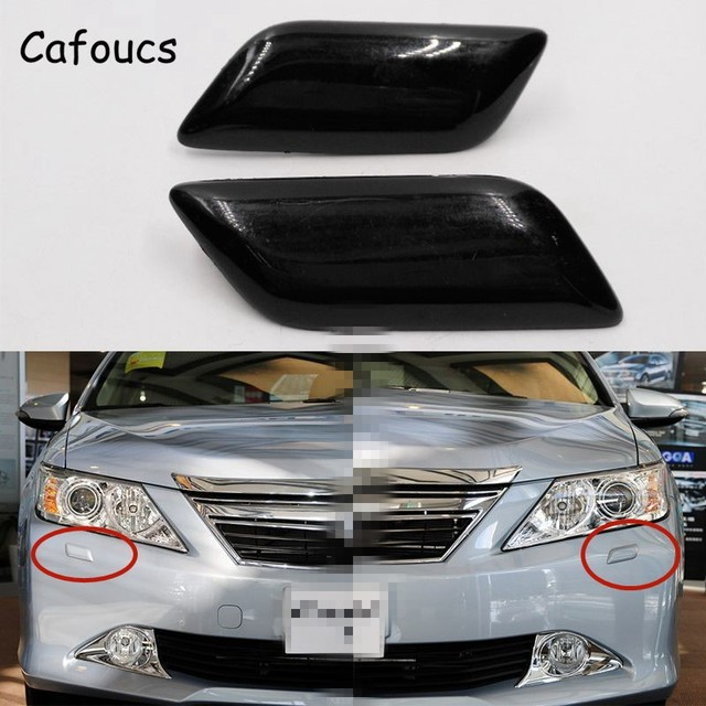 US $8 26 20% OFF Cafoucs Headlamp Spray Water Jet Cover For Toyota Camry  2011 2015 Accessories Car Headlight Washer Nozzle Cap -in Bumpers from