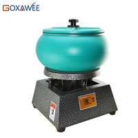 GOXAWEE 10 Drum Vibratory Tumbler Polishing Machine Vibrating Rock Drum Polisher Tumbler For Jewelry Tools and Equipment