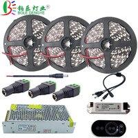 BOLEDENGYE 5050 White Warm White LED Strip 5m 10m 15m 12V 60 leds/m Non waterproof Flexible Tape Ribbon+RF Wireless Controller