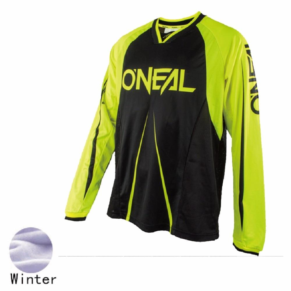 2018 new ONeal Enduro summer Jeresy Downhill Thermal Fleece Motorcycle Motocross Racing Riding Cycling Jersey long T-shirt Bike