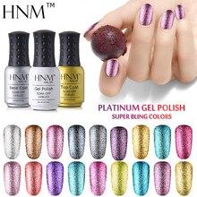 HNM супер блестящий Гель-лак для ногтей 8 мл УФ-лак для ногтей Платиновый Гель-лак Полупостоянный Гель-лак