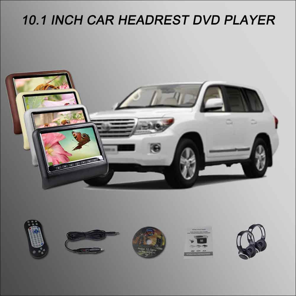 BigBigRoad For TOYOTA Land Cruiser Car Headrest Monitor /2*10.1 Screen Support USB SD DVD Player Games Remote Control