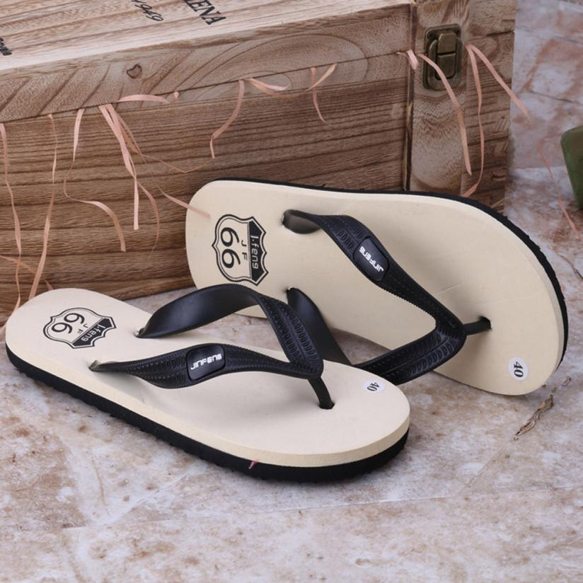 SAGACE Men's Summer Flat Sandals Flip Flops Flip Flops Beach Men's Slippers 2018 Simple Fashion Wild Sandals Apr12 40 free shipping 2016 summer diamond woman sandals casual flat thong flip flops fashion beads wild sandals white black st338